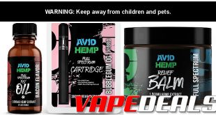 TheCBDSite Sale – 20% Off All Avid Hemp Products