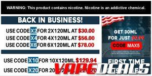 Freeman Vape Juice New Customer Deal is Back! $0.99