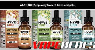 HYVE CBD Full Spectrum Tincture (Free Shipping) $11.04