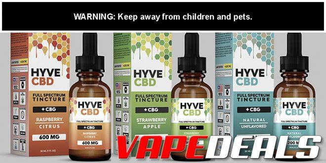 HYVE CBD Full Spectrum Tincture (Free Shipping) $11.04