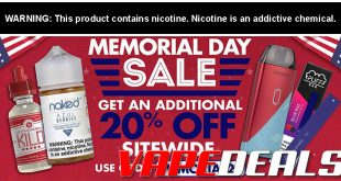 VapeDeal Memorial Day 2020 Sale (20% Off Sitewide)
