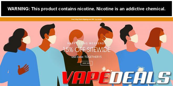 VaporDNA Long Weekend Sale (15% Off Everything!)