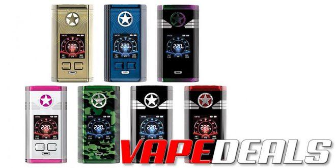 Vaptio Capt'n 220W Box Mod $12.14 | Full Kit $19.34