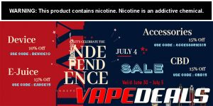 Vaporider 4th of July Sale (New Coupon Codes!)