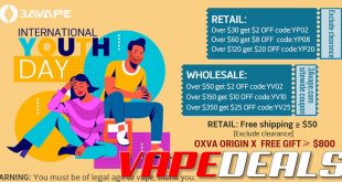3avape August 2020 Coupon Code Deals