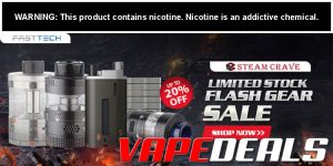 Fasttech Flash Sale on Select Steam Crave Products