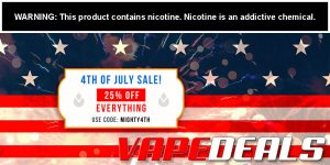 Mighty Vapors 4th Of July Sale