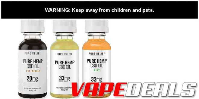 Pure Relief CBD Tinctures BOGO Free Sale!