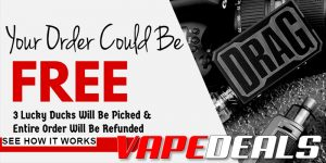 "Vaporider ""Your Order On Us"" Promo (3 Winners)"