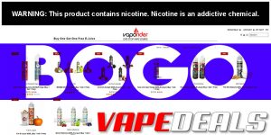 Vaporider Buy One Get One Free E-liquid Sale
