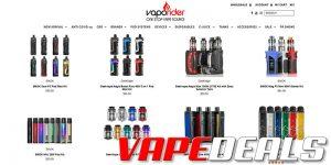 Vaporider Hardware & E-liquid Sale (10 - 15% Off)