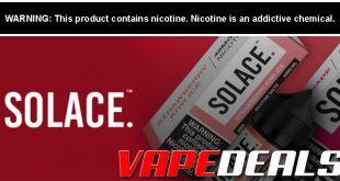 Solace E-liquid Buy 1 Get 1 FREE Sale