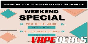 Vaporider Sitewide Coupon Code ($10 Off – Ends Today!)