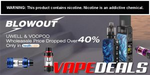 Health Cabin Blowout Sale on Voopoo & Uwell Products