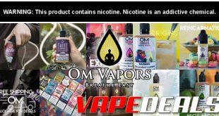 OM Vapors & Umba Vape E-liquid Sale ($100mL) $6.99