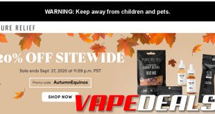 Pure Relief Autumn 2020 Coupon Code (20% Off)