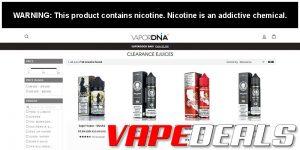 VaporDNA E-liquid Clearance Deals Update