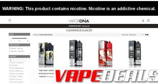 VaporDNA E-liquid Clearance Deals Update