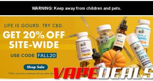 CBDfx Fall 2020 Sale (Extra 20% Off Sitewide)