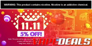 Efun and 3fvape 11.11 2020 Sitewide Sale (5% Off)