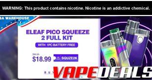 Eleaf Pico Squeeze 2 Squonk Kit (USA Warehouse) $13.99