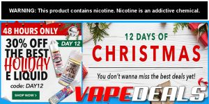 Breazy 30% Off Select Holiday E-liquid