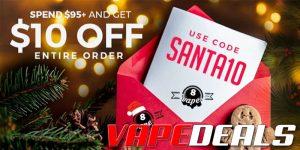 Eightvape Santa Deal (Spend $95, Get $10)