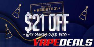 Eightvape Coupon Code: $21 Off $100+