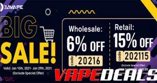 3avape Big Sale (15% Off Sitewide)