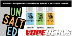 Unsalted E-liquid by Dash Vapes (3 Flavors) $9.60