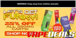 Funky Farms 25% OFF on ALL 350mg Carts!