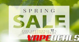 Vaporider Spring Sale (Additional 12% Off)