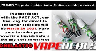 Verdict Vapors Pact Act Sale! (50% Off)