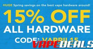 Breazy Vapril: 15% OFF ALL HARDWARE!