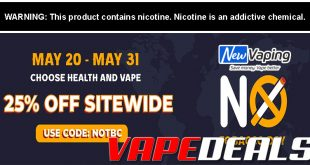 NewVaping World No Tobacco Day Sale (25% Off)