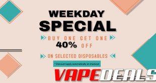 Vaporider Disposable BOGO Sale