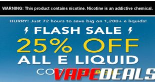 Breazy Sitewide E-liquid Sale (Extra 25% Off!)