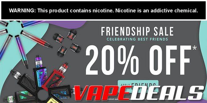eJuices.com Friendship Sale (20% Off)