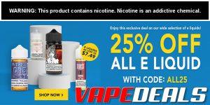 Breazy Sitewide E-liquid Sale (25% Off)