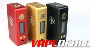 This deal just keeps getting better and better! TheDotmod Dotbox 200W Box Mod is now on sale over at Breazy for $99.99. On top of that