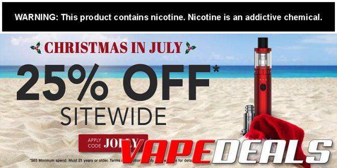 eJuices.com & eLiquid.com Christmas In July