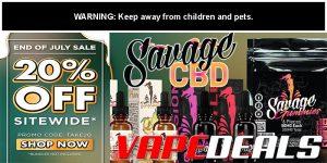 Savage CBD End Of July Sale (20% Off)