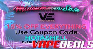 Vapor Empire Midsummer Sale (15% Off)