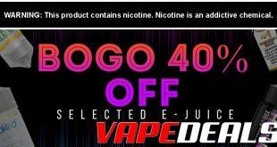 Vaporider Ejuice BOGO 40% Off Sale