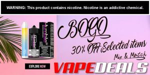 Vaporider BOGO 30% OFF Mix & Match Sale