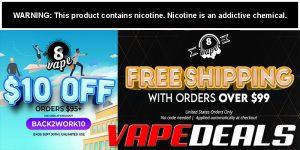 Eightvape Coupon Code ($10 Off $95)