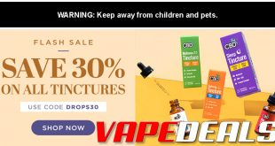 CBDfx Tincture Flash Sale (30% Off)