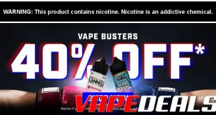 eLiquid.com VAPE BUSTERS Sale (40% Off)