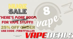 Eightvape First Day of Fall Sale (25% Off)