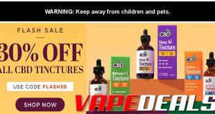 CBDfx CBD Tinctures Flash Sale (30% Off)